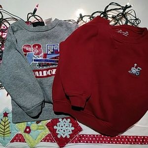 Lot of 2 Toddler Baby Sweatshirts